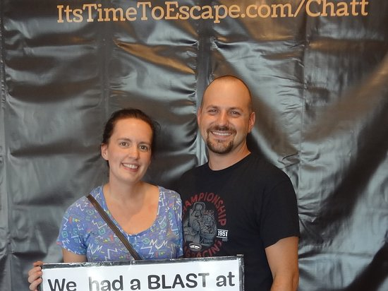 Time to Escape: the Escape Room Experience (Chattanooga): These two rookies took on Sabotage. They didn't quite make it, but we are sure they will next ti