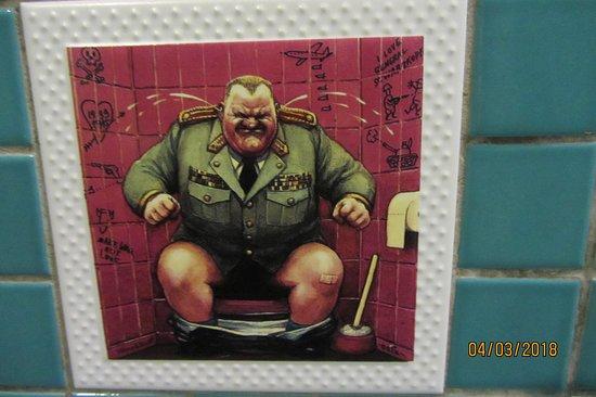 Cozy Restaurant Cafe & Pub: Funny bathroom tiles