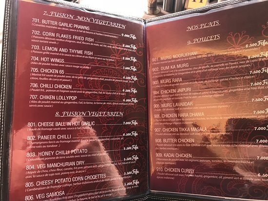 Jaipur Restaurant: menu 2