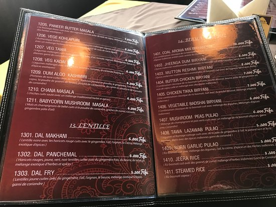 Jaipur Restaurant: menu 4