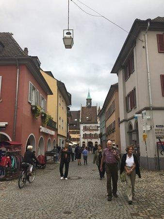 walking towards the marktplatz