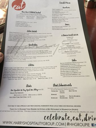 Harry's Savoy Grill: Menu.