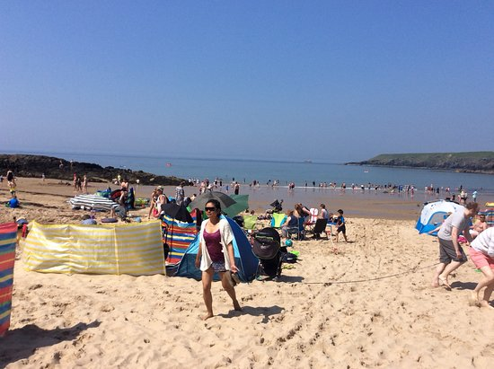 Porthor Beach (Whistling Sands): So busy