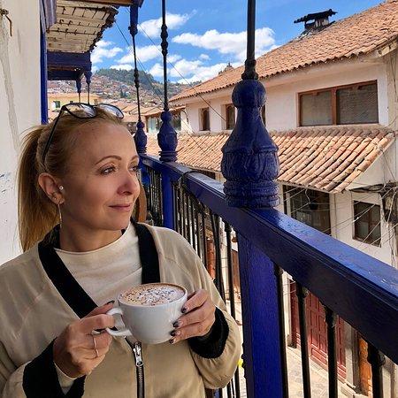 Museo Del Cafe : Enjoying the balcony