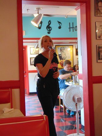 Mel's Hard Luck Diner: This is my waitress on my first and second visits.  I ask for her.  She sings great.