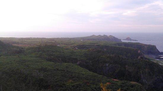 Green Island Little Great Wall: 山巒樹鬱綠