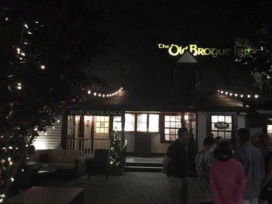 Great Falls, VA: Front Entrance of The Old Brogue at night.