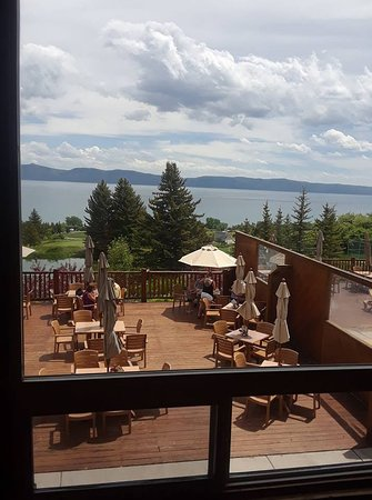 Fish Haven, ID: Looking out from Cooper's at Bear Lake West Restaurant