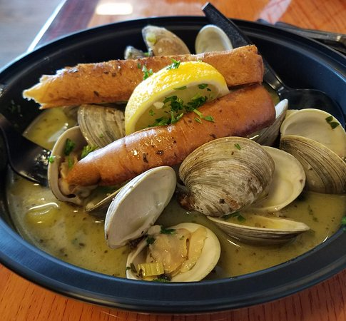D.J.'s Clam Shack : For $13 this Garlic Steamed Clams is so worth it! Twice cost of the soup and double the pleasure