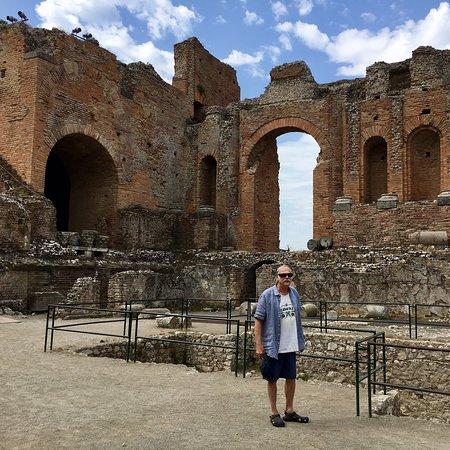 Ancient Theatre of Taormina ภาพถ่าย