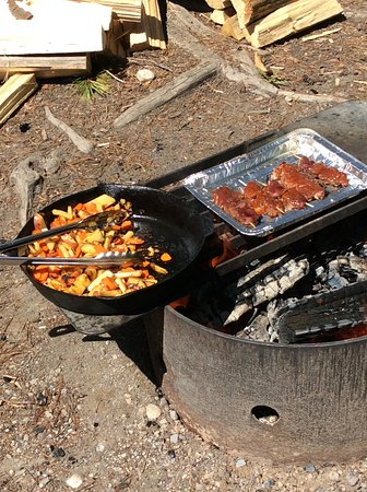 Parc national Banff, Canada: cooking on fire