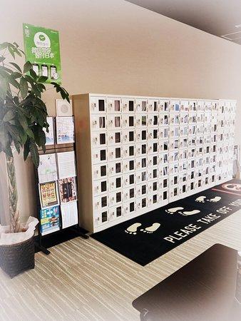 Capsule Hotel Hakodate: Shoes locker/シューズロッカー