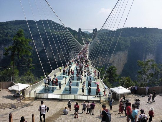 Zhangjiajie, Cina: Glasses Bridge