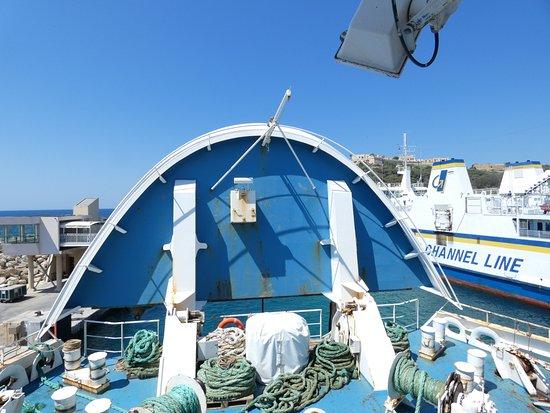 Cirkewwa, Malta: Gozo Ferry Bow rising