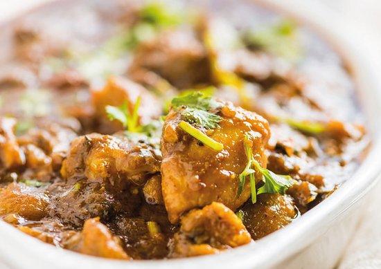 Azaiba, Oman: Chettinad chicken curry - AnjapparOman