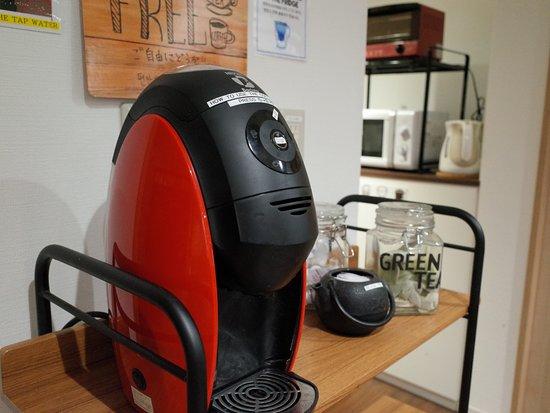 Hostel Enisia Namba: Free cofee & japanese tea etc