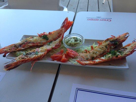 Punta del Moral, Spain: King prawns