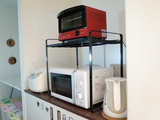 Hostel Enisia Namba: common kitchen