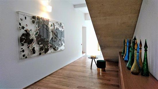 Troisgros : couloir desservant les chambres