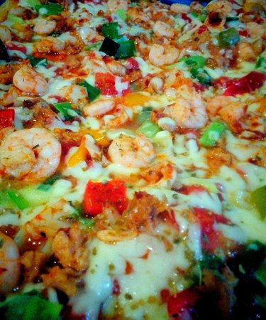 Bella Verona: Sea food pizza (all ingredients from Italy)