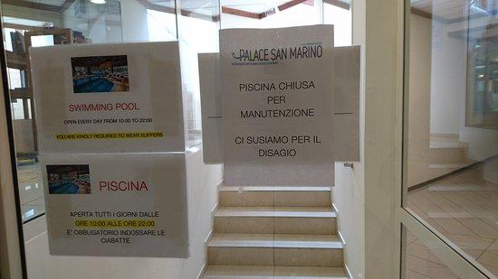 Palace Hotel: PISCINA CHIUSA !!!!! (tanto l'acqua era comunque fredda)