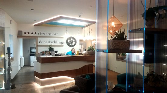 Schlogen, Austria: Hotel Donauschlinge - a megújjukt recepció