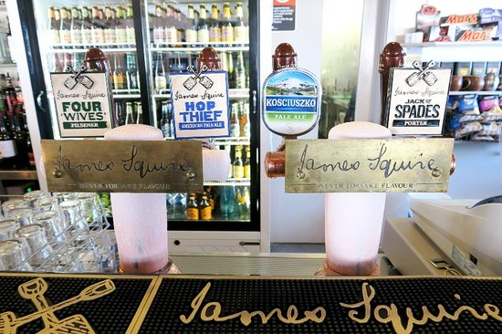 Sundeck Hotel: James Squire on tap in the bar