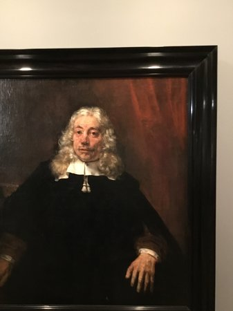 National Gallery of Victoria : Rembrandt. Portrait of a white-haird man.