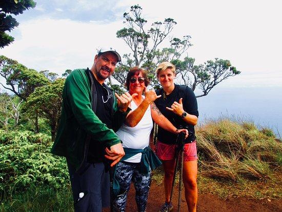 Hike Kauai With Me: Tim and I with Cinzia