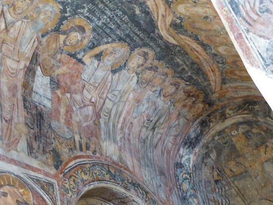 Chiesa di San Pietro: Le lavement des pieds, détail d'une fresque