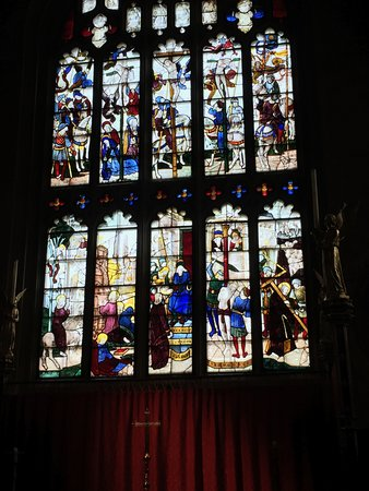 St. Mary's Church: One of many medieval windows