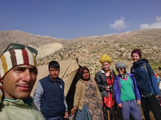Zagros Nomads Trekking: Although it was raining the whole night but we spend a memorable night in my cousins' tent !  Yo