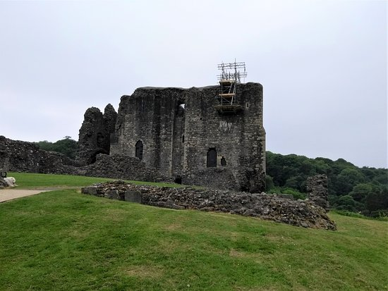 Dundonald Castle : View from a distance on the path