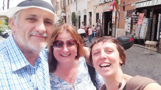 Skip the Line: Colosseum Roman Forum and Palatine Hill Private Tour: Us and Angela at the end of our tour