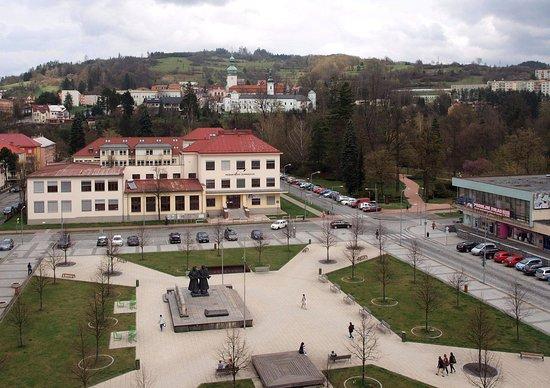 Vsetin, República Checa: Výhled z hotelového pokoje
