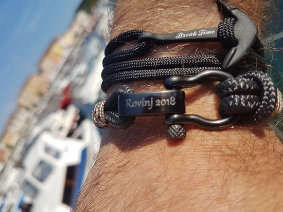 Break Time: Our very first customers in the Rovinj shop were from Germany. Original souvenirs from Istria.