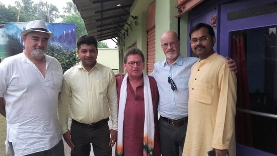 Clients with Holy Voyages Partner. They enjoyed Sailing Ganga Tour from Allahabad to Varanasi.
