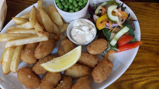 The Queen Catherine: Scampi meal