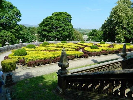 Padiham, UK: The garden on the rear Terrace