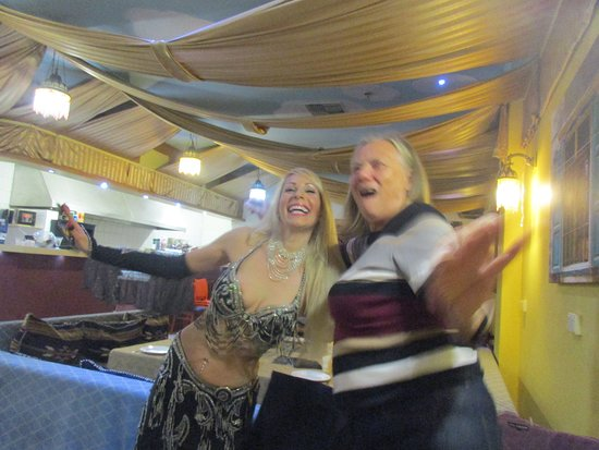 Elie's Tent Lebanese Restaurant Victoria Park Perth: Val and the belly dancer