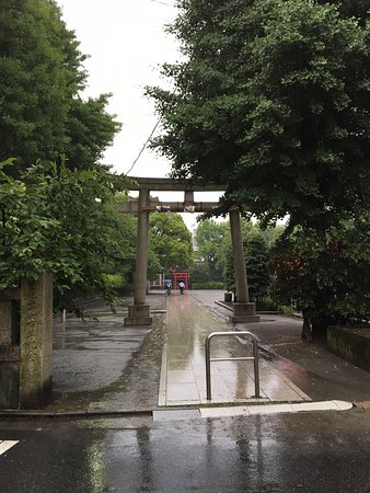 Inage Shrine: 西側の鳥居