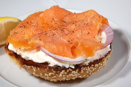 Pink Cadillac Diner: Our Lox Burger Sandwitch