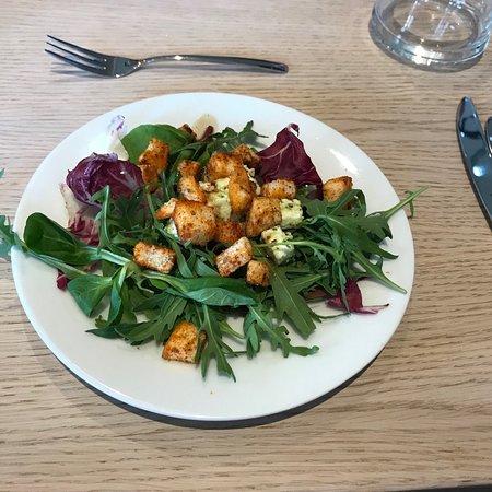 Café & restaurant Na Baště - Prague Castle: starter salad served to group