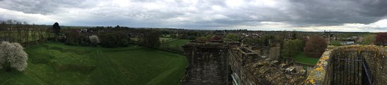 Ashby de la Zouch Castle: panoramic from the top of the castle