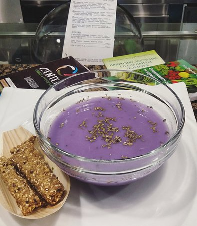 Center - Lounge & Fresh Bar : Soup of the day (violet cabbage)