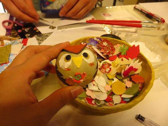 Ishikawa Mino Washi Paper Goods Workshop: 和紙ころころ(フクロウ)