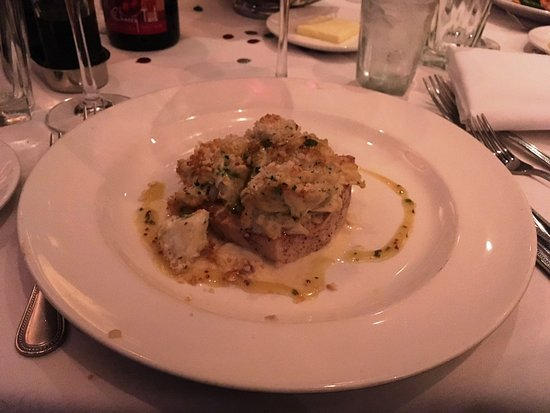The Capital Grille : ROASTED SWORDFISH with Lump Crab gratin and mustard vinaigrette - WOW!!!