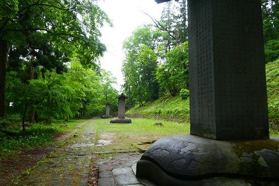 Aizuhanshu Matsudaira Family Grave: 広い範囲に歴代藩主のお墓が並んでいます