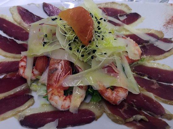 AQUA By Lexus - Fish Restaurant: Crudo di gamberi e scampi