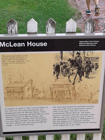 Appomattox, VA: Information about the McLean House.